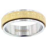 Spinner Cross Ring, Size 8