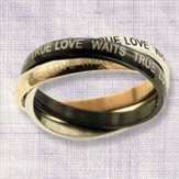 True Love Waits, Three Tone Rings, Size 8