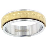 Spinner Cross Ring, Size 10