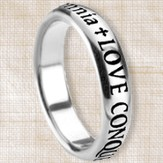 Love Conquers All Posey Ring, Size 9