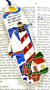 Suncatcher Bookmark and Magnet, Lighthouse Shores