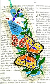 Suncatcher Bookmark and Magnet, Botanical