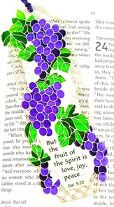 Suncatcher Bookmark and Magnet, Grape Arbor