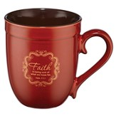 Red 14 Oz Mug - Faith - Heb 11