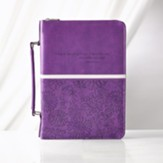 I Know the Plans Bible Cover, Purple, Large