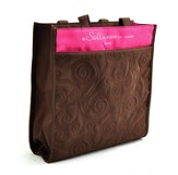 Be Still and Know Tote, Brown and Pink