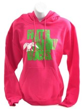 Duck Dynasty, Faith, Family Ducks, Hooded Sweatshirt, Heliconia and Green, Medium