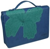 Hope Butterfly Cover, Blue and Green, Medium