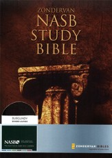 NAS Zondervan Study Bible, Bonded leather, Burgundy, Thumb-indexed