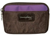 I Know the Plans Coin Purse, Brown and Purple