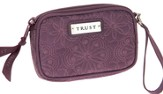 Embroidered Coin Purse Trust, Purple
