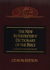 The New Interpreter's Dictionary of the Bible on CD-ROM