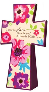 Tabletop Floral Cross, Jeremiah 29:11