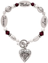 Love, Mother, Forever Bracelet