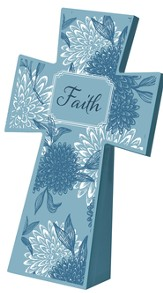 Tabletop Floral Cross, Faith