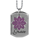 Saved By Grace Dog Tag