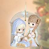 Unto Us a Child is Born Ornament, Precious Moments Figurine - Slightly Imperfect