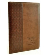 Trust Proverbs 3:5 Folder, Brown