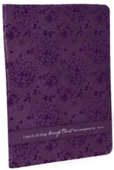 Can Do All Things Philippians 4:13 Folder, Purple