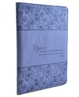 Rejoice Psalm 100:2 Folder, Blue
