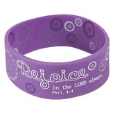 Witness Gear Wristband Rejoice Philippians 4:4