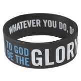 Witness Gear Wristband Glory 1 Corinthians 10:31, Black