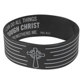 Witness Gear Wristband Philippians 4:13, Black