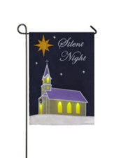 Silent Night Flag, LED, Musical, Small