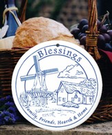 Blessings, Windmill Porcelain Bread Warmer