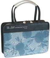 Be Still Bible Cover, Blue Floral, Large