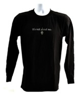 It's All About Him Long Sleeve T-Shirt, Black, Medium (38-40)