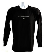 It's All About Him Long Sleeve T-Shirt, Black, Small (36-38)