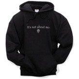 It's All About Him, Hooded Sweatshirt, Black, Medium