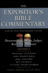 The Expositor's Bible Commentary: Deuteronomy, Joshua, Judges, Ruth, 1 & 2 Samuel, Dust Jacket