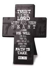 Trust in the Lord Cross, Black