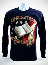 One Nation Long Sleeve T-Shirt, Navy, Large (42-44)