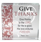 Give Thanks Glass Block