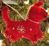 Snowflake Dog Ornament, Red, Fair Trade Product