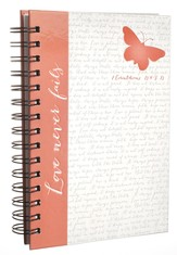 Red Butterfly, Large Spiral Bound Journal
