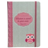 Owl, Wisdom Is Sweet Journal with Elastic Band, Hardcover