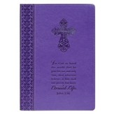 Eternal Life John 3:16 Lux-Leather Journal, Purple