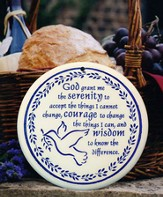 Serenity Prayer, Porcelain Bread Warmer