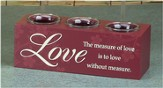 The Measure of Love Votive Holder