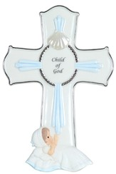 Child of God Cross, Blue, Precious Moments