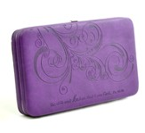 Be Still Clutch Wallet, Purple