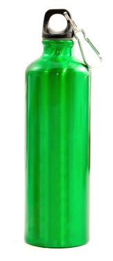 Blank/Green Metal Water Bottle