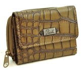 Faith, Croc Embossed Wallet, Khaki