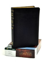 NAS Zondervan Study Bible, Genuine leather, Black  - Imperfectly Imprinted Bibles