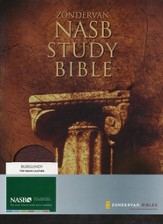 NAS Zondervan Study Bible, Genuine leather, Burgundy