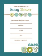 Baby Shower Invitation, Boy, Box of 10